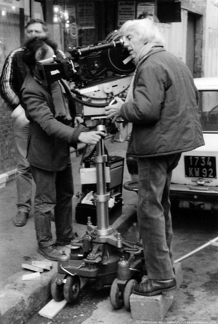 Robert Bresson on set of L'Argent