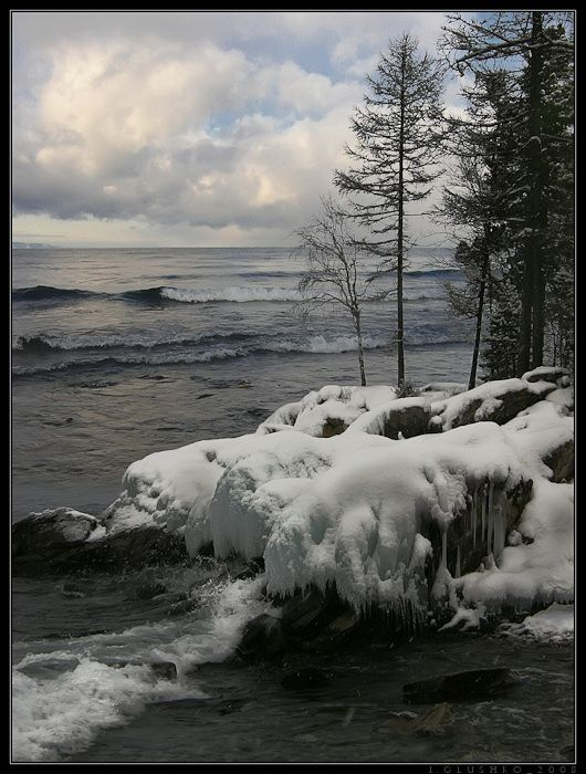 Фотография Байкала зимний шторм. Автор Igor Glushko.