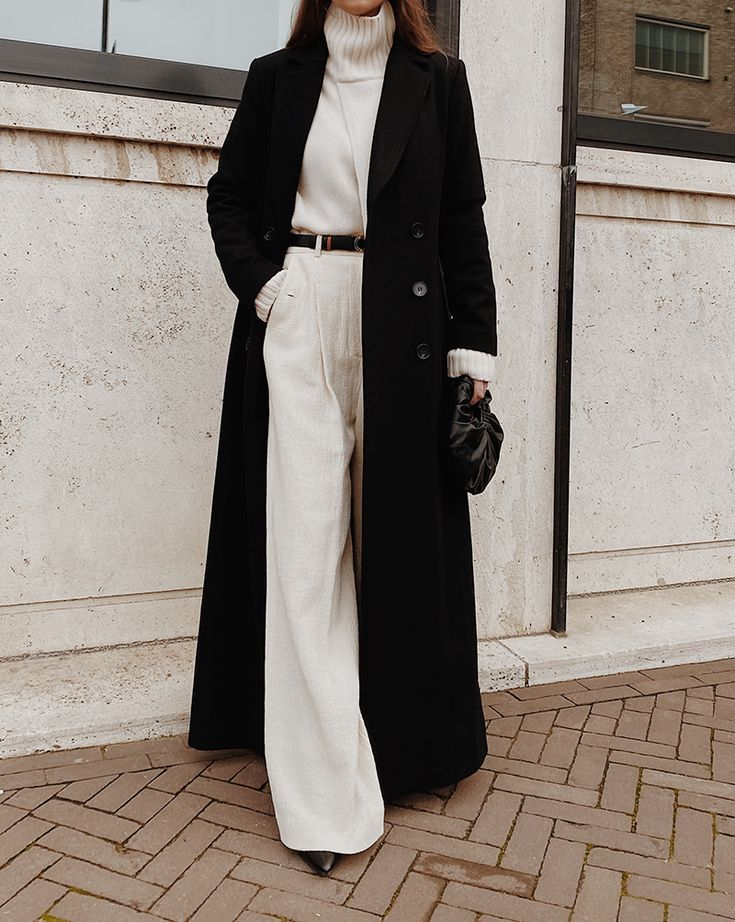 Coat Outfit Casual Winter Outfits, All Black Trench Coat Outfit