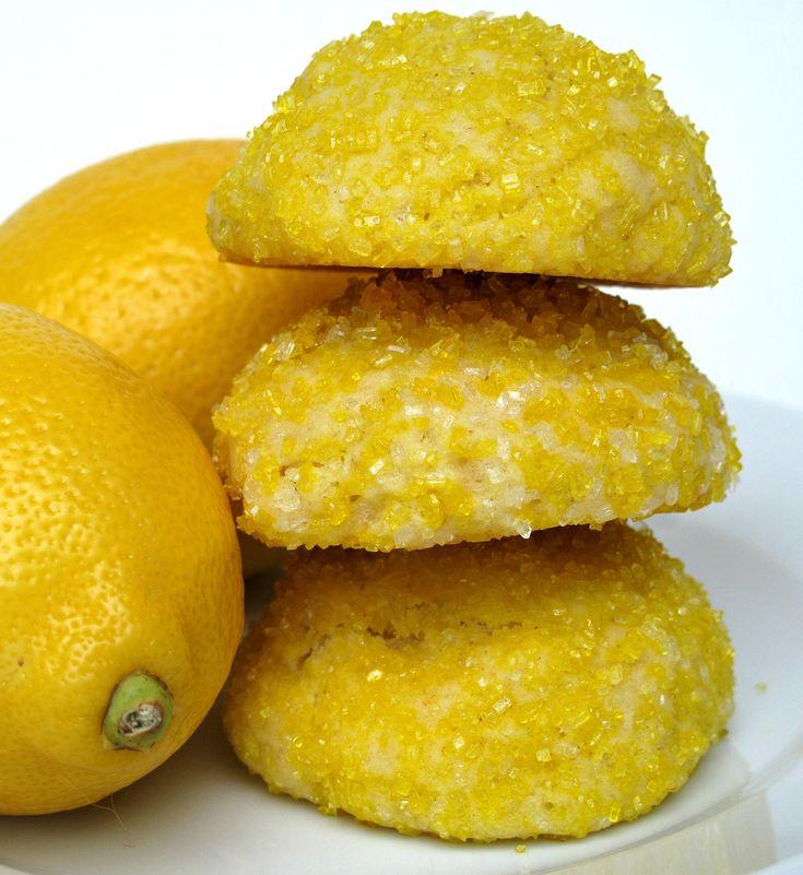 Sparkling Lemon Pillow Cookies   The Monday Box  #soft lemon cookie #desert-safe recipe #care package recipe