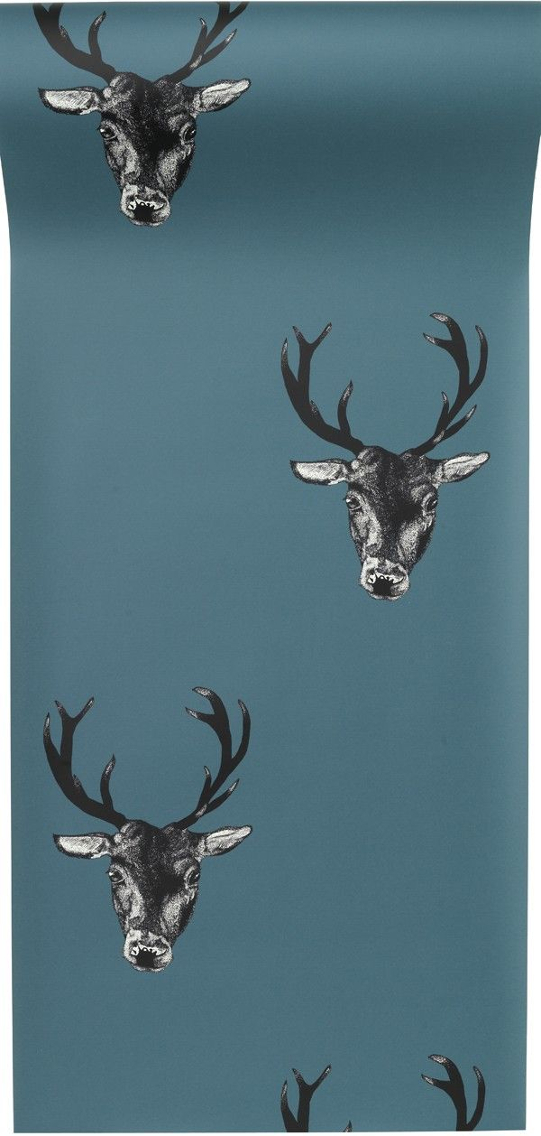 Stag Head Wallpaper Small