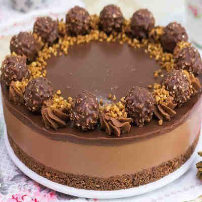 Tarta de Ferrero Rocher y Nutella sin horno