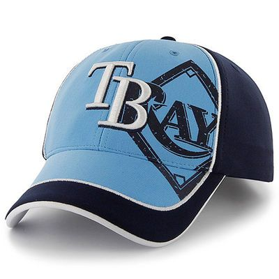 Tampa Bay Rays '47 Youth Glyph MVP Adjustable Hat - Light Blue/Navy