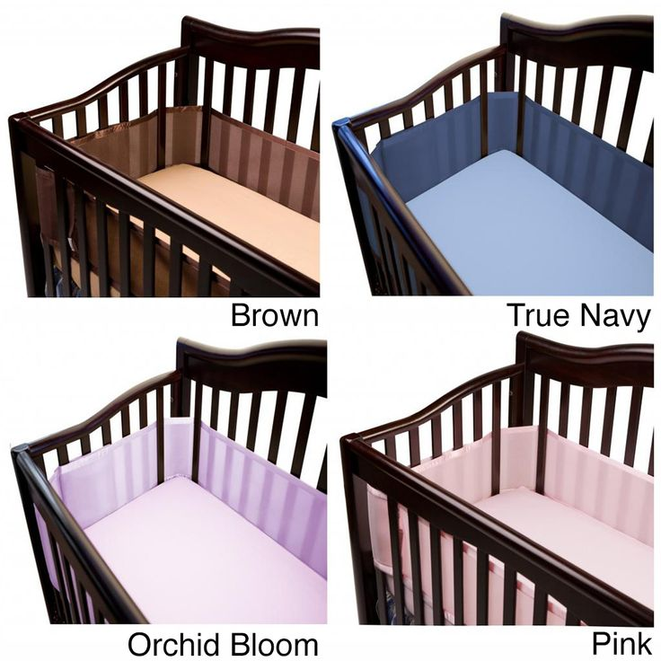 Protect your little one at night or during naps with this mesh crib liner. Featuring breathable fabric and light padding, this liner is a safe alternative to traditional crib bumpers. Velcro attachments eliminate the need for dangerous ties.