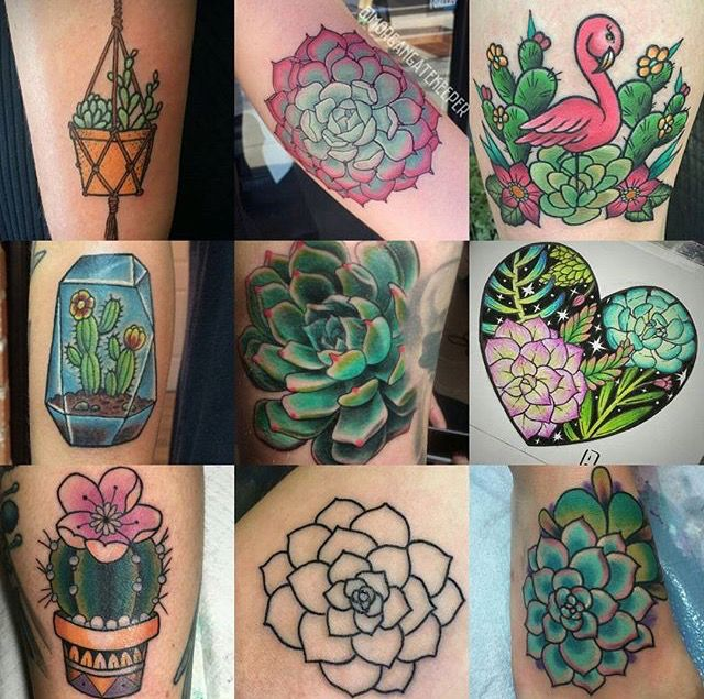 Succulents tattoos