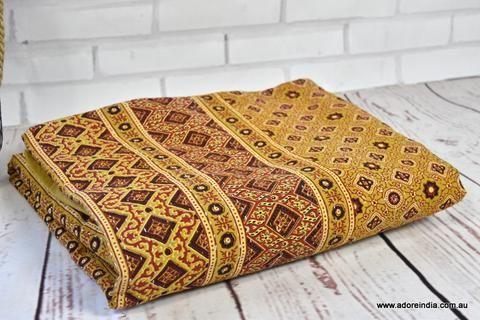 Ajrakh Hand Block Kantha Quilt