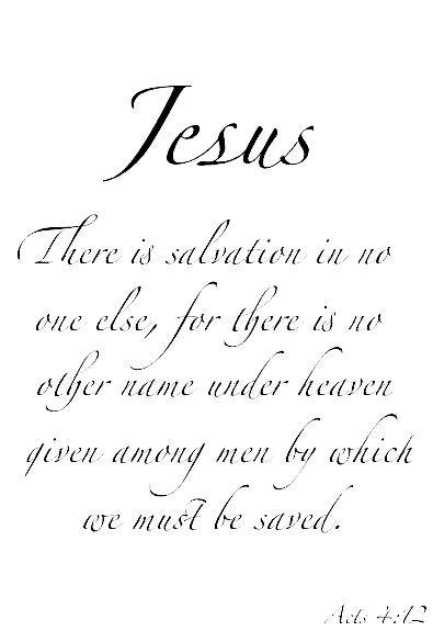 Jesus is Salvation (Acts 4:12)