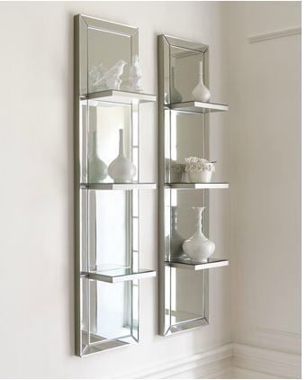 mirror wall shelf