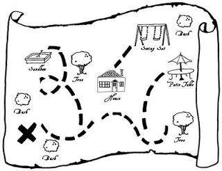 milleideeperunafesta: Pirati: mappa per caccia al tesoro
