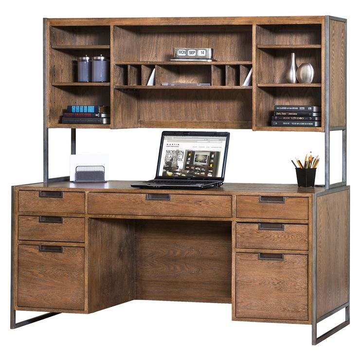 Martin Home Furnishings Belmont Credenza Desk With Hutch. Find This Pin And  More On Kathy Ireland Furniture ...