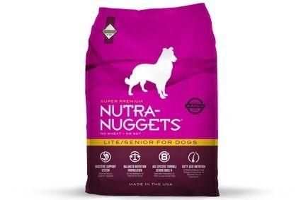 """ALIMENTO BALANCEADO PARA PERROS Nutra-Nuggets Lite/Senior Dog Formula—ideal para perros """"SENIOR"""" de 6 o 7 años en adelante, para perros con sobrepeso, o perros con niveles de actividad…"""