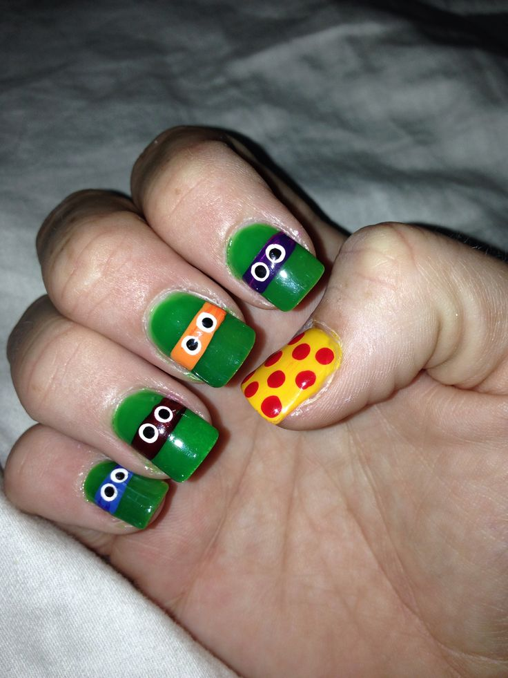 Teenage mutant ninja turtle nails