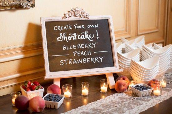 Shortcake Dessert Bar Strawberry Shortcake Bar
