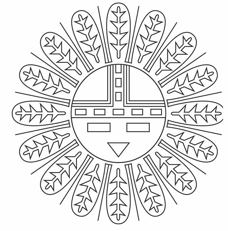 Native american coloring designs american indian for Navajo coloring pages