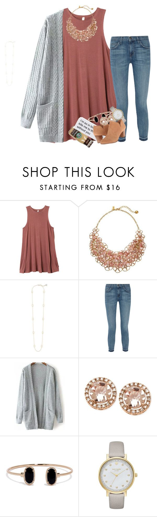 """""""that's embarrassing..."""" by ellaswiftie13 ❤ liked on Polyvore featuring RVCA, Kate Spade, Kendra Scott, Current/Elliott, LULUS and Jack Rogers"""