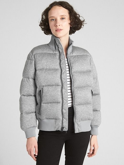 a935f0efc ColdControl Puffer Bomber Jacket in 2019 | Products | Grey bomber ...
