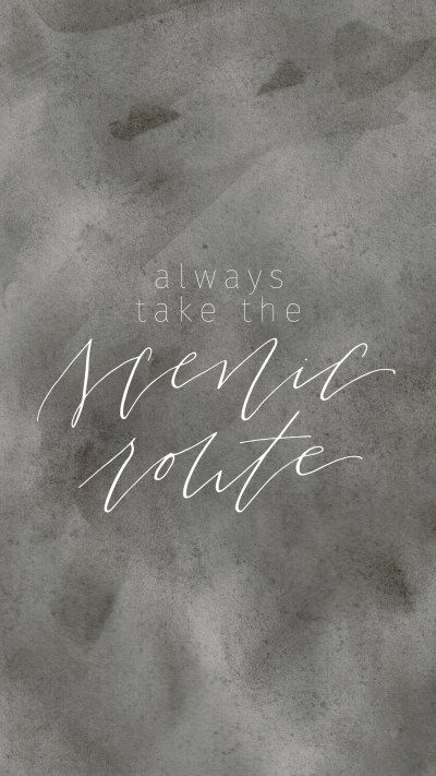 Always Take the Scenic Route by True North Paper Company | FREE Desktop Background Wallpaper Mobile Screensaver | Wallpaper Wednesday | Bon Paper House & True North Paper Company Collaboration