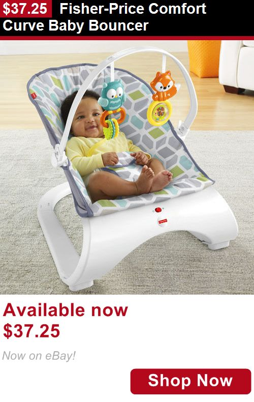Baby bouncers and vibrating chairs: Fisher-Price Comfort Curve Baby Bouncer BUY IT NOW ONLY: $37.25