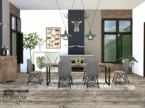Fermium Dining Room The Sims 4 Download Simsdom Sims 4 Cc Furniture Living Rooms Sims 4 Cc Furniture Sims House