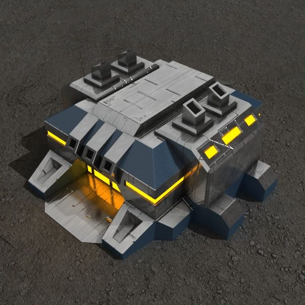 Factory v.2 sci-fi building Architecture  3D Models