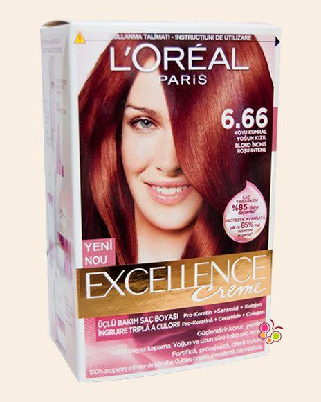 LOREAL PARIS Excellence Creme Saç Boyası 6/66 Koyu Kumral Yoğun Kızıl