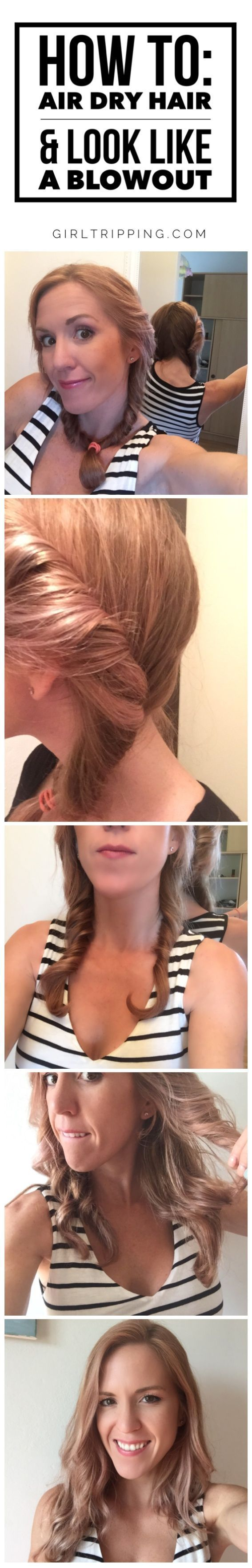 How to AirDry Hair to Look Like a Blowout