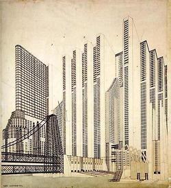 Futuristic architecture by Antonio Sant'Elia