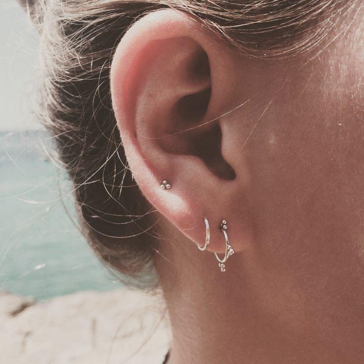Afbeeldingsresultaat voor piercing upper lobe curve ear