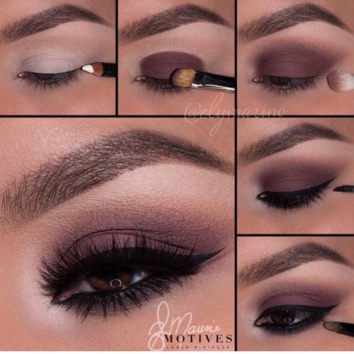 Image via We Heart It #diy #eyes #fashion #girls #lashes #makeup #style #tutorial #wine #liner #brows