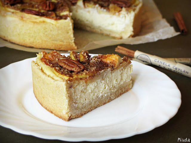 Verdade de sabor: Яблочный чизкейк с корицей и орехами пекан / Cheesecake de maçãs, canela e nozes-pecã