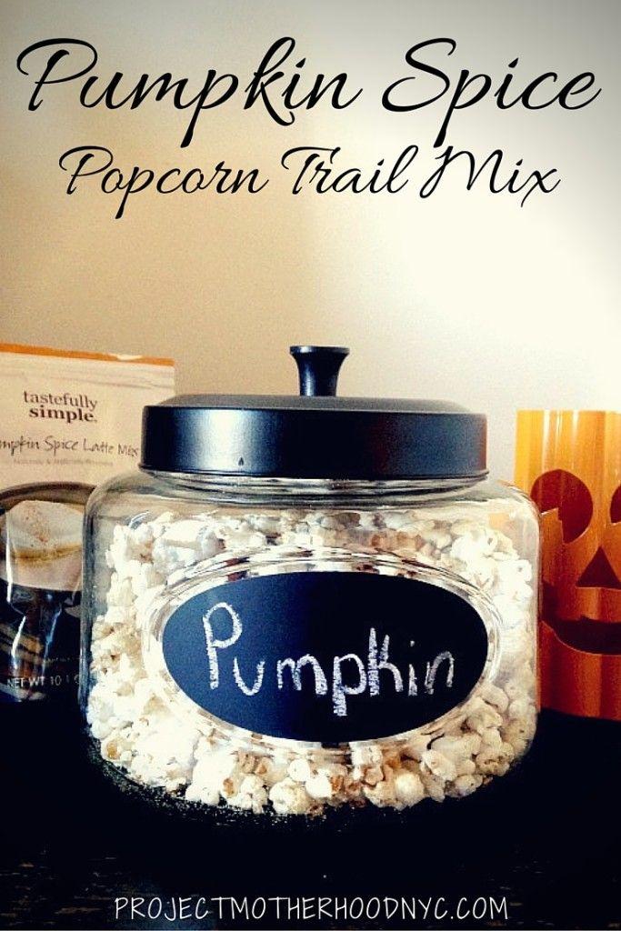 Healthy Eating: Pumpkin Spice Popcorn Trail Mix