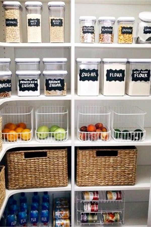 4ac5e107433e258740ce8b1c264a9b6c Organize Your Pantry By Putting A Storage Rack On The Back Of The Door For Your ...