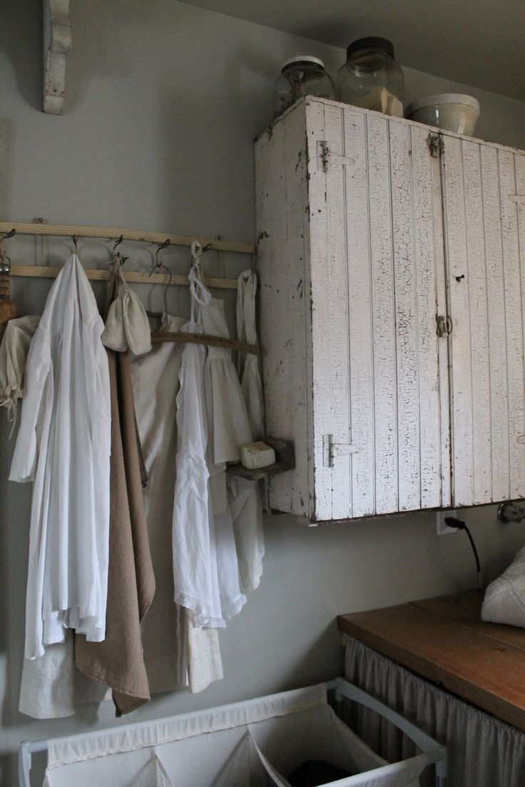 64 best images about rustic cabinets on pinterest rustic for Country laundry room curtains