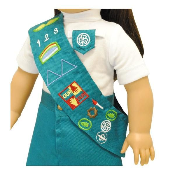 Beautiful Girl Scout Uniform. Doll and Shoes NOT Included Fits all American Girl dolls and Madame Alexander 18'' inch Dolls Unique designs KHOMO Brand.