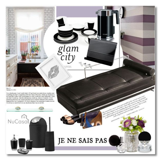"""""""Glam city"""" by undici ❤ liked on Polyvore featuring interior, interiors, interior design, home, home decor, interior decorating, Sabichi, Graef, Dot & Bo and Typhoon"""