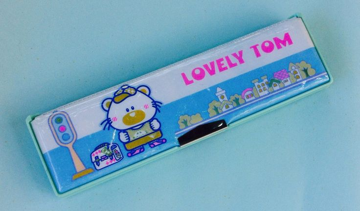 A personal favorite from my Etsy shop https://www.etsy.com/listing/481524812/lovely-tom-pencil-box-vinyl-padded