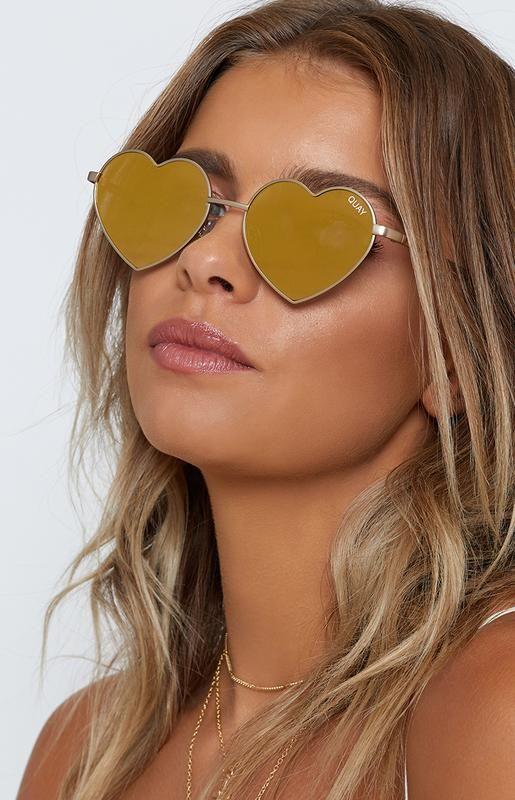 9208f30b46e35 Quay Heartbreaker Sunglasses Gold