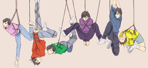 Osomatsu-san- Osomatsu, Karamatsu, Choromatsu, Ichimatsu, Jyushimatsu, and Todomatsu #Anime「♡」dark bondage