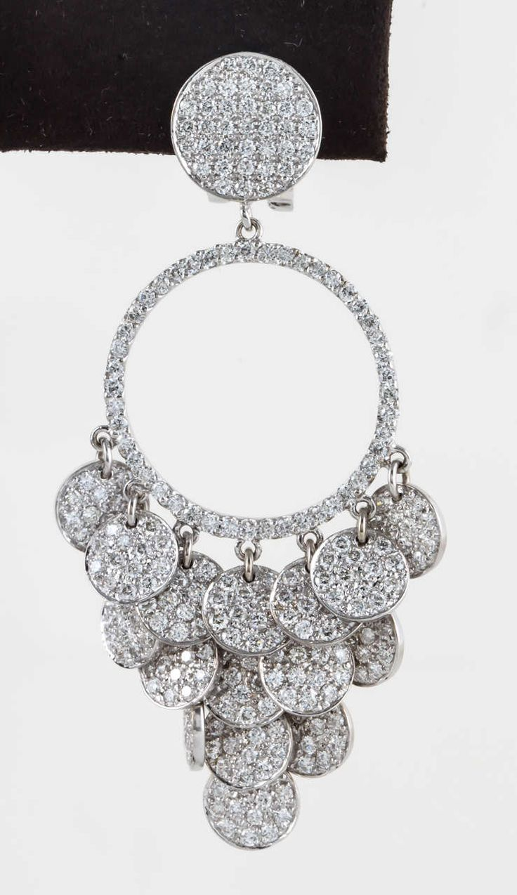 Gabrielle's Amazing Fantasy Closet  Pave Diamond Chandelier Earrings  You  Can See The Rest Of