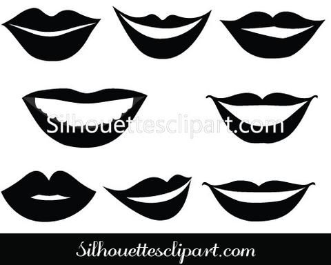 Smiling Lips Vector Graphics