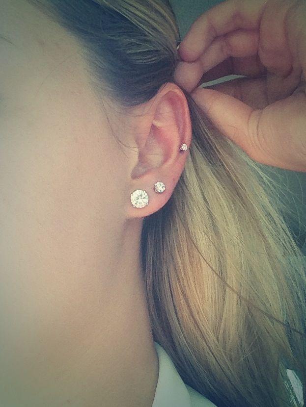 mid cartilage piercing