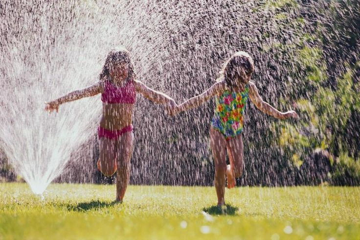 Telling them to get out of the sprinkler, im thinking, why am i babysitting them?