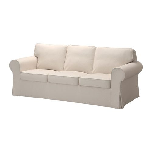 "IKEA - EKTORP, Sofa,Product dimensions Width: 85 7/8 "" Depth: 34 5/8 "" Seat depth: 19 1/4 "" Seat height: 17 3/4 "" Height: 34 5/8"