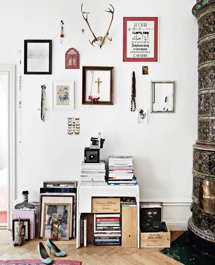 a lovely way to deal with clutter: Interior Design, Decor, Idea, Inspiration, Dream, Interiors, House, Space, Wall