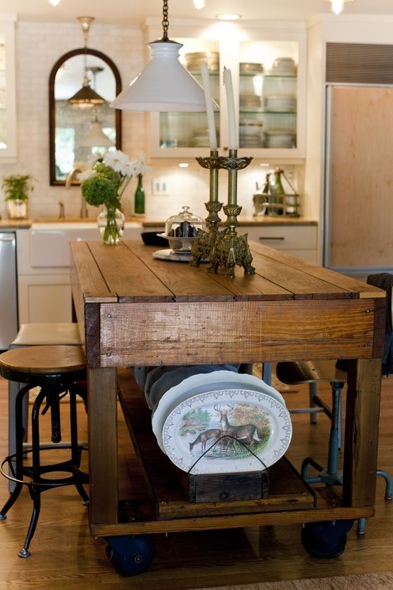 wood industrial island - I have to show Brad this one, possible option for  that - Best 25+ Homemade Kitchen Island Ideas Only On Pinterest