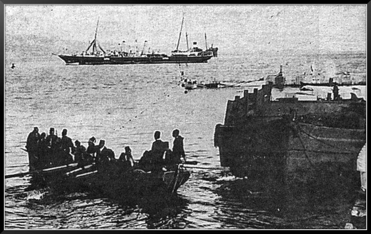 Ο τουρκικός στρατός εγκαταλείπει την Κρήτη. Σούδα, 1898.