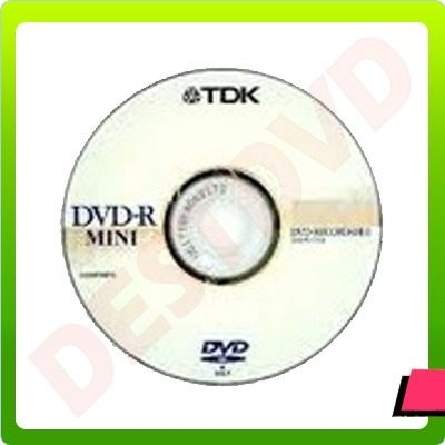 Mini Dvd Virgen Tdk 4x 1.4gb / 30 Minutos - $ 1.390