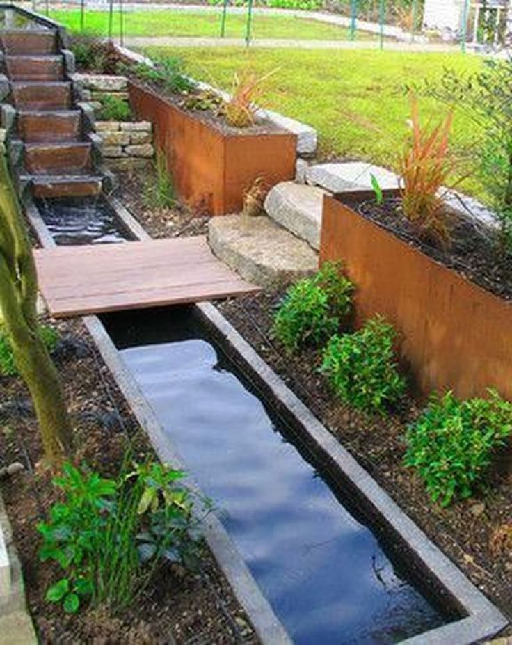 53 Relaxing Small Front Garden Design Ideas With Waterfall ... on Front Yard Waterfall Ideas id=34659