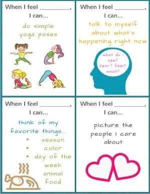 Ready to Use Coping Skills Cue Cards - Calming Version - Coping Skills for Kids by jeannine