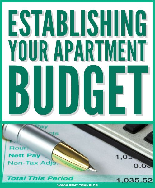 Establishing Your Apartment Budget - Rent.com Blog  #apartment #budget #money